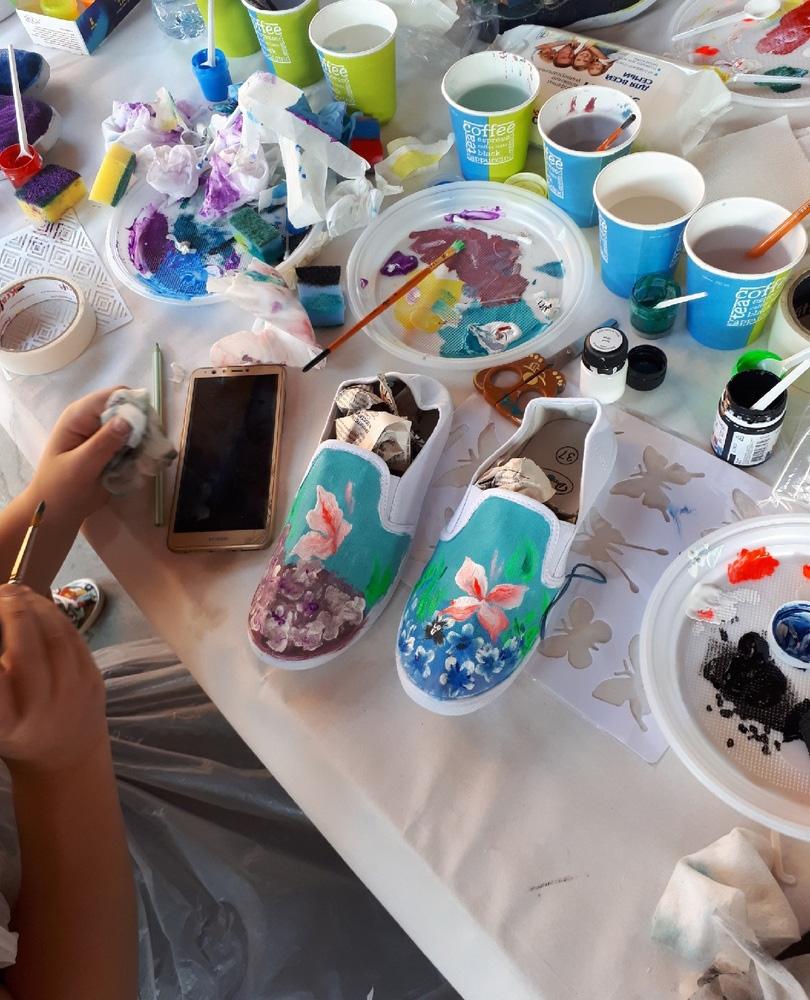 мастер классы роспись кед с выездом фотогалерея