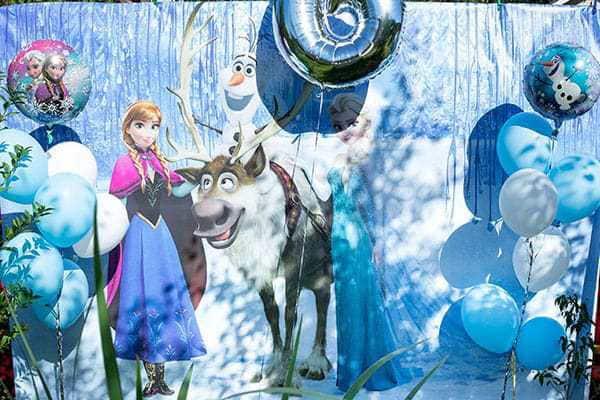 Фотозона Холодное сердце на день рождения изготовление аренда прокат