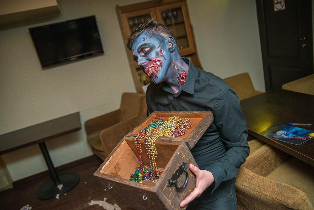 зомби квест на выезд на день рождения хихи-ру