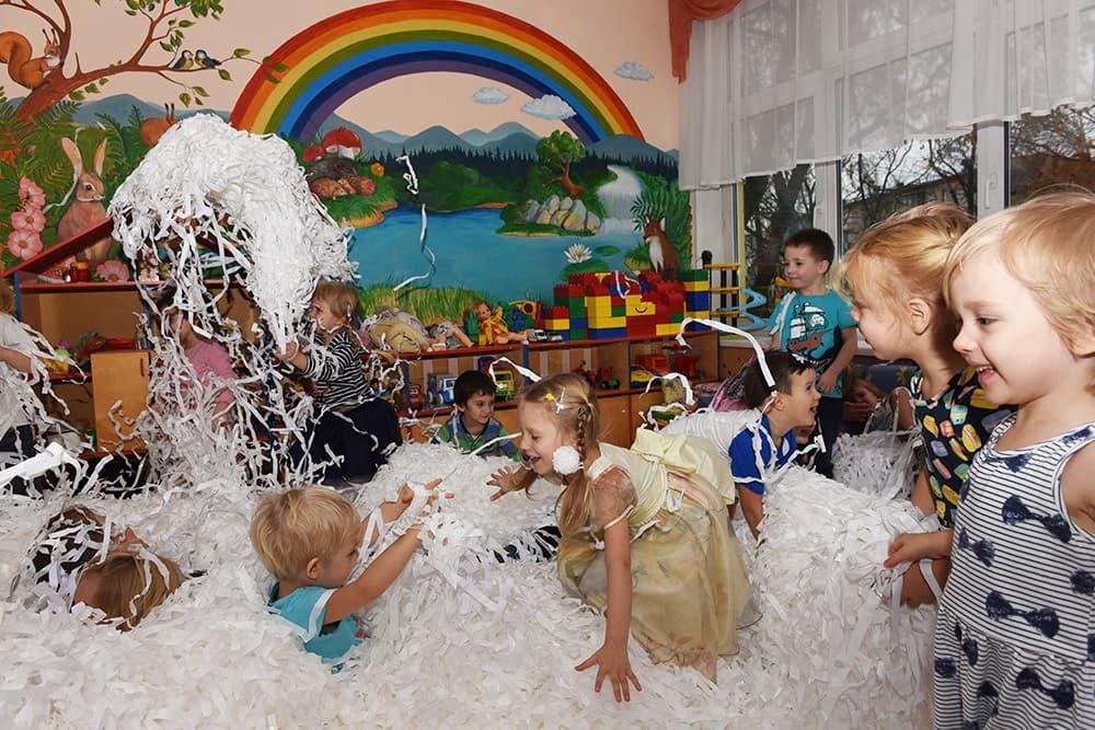 бумажное шоу на день рождения