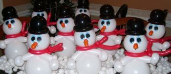 украшение новогодних праздников шарами