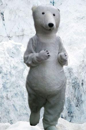 ростовая кукла белый медведь аренда прокат