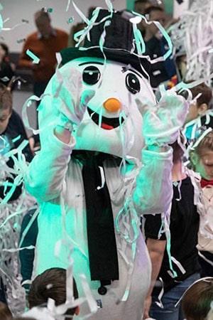 ростовая кукла снеговик на новый год аренда и прокат