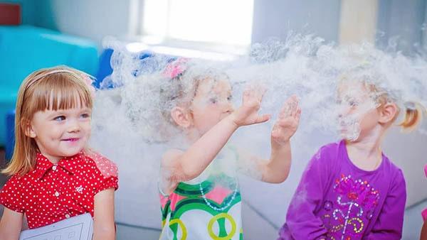Химическое крио шоу на выпускной в детский сад