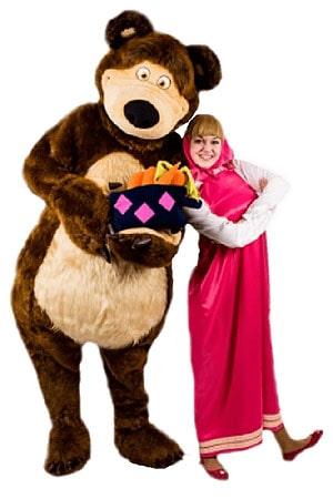 костюм Аниматоров Маша и Медведь