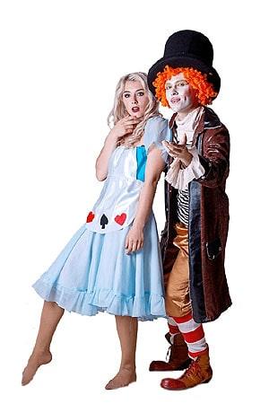 костюм Аниматоров Алиса и Шляпник алиса в стране чудес