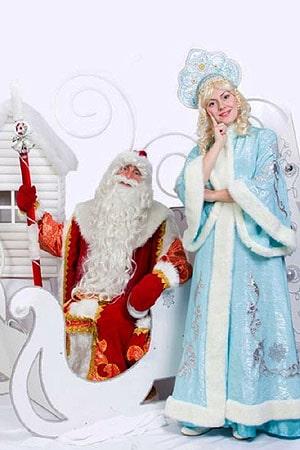 костюмы аниматоры Дед Мороз и Снегурочка